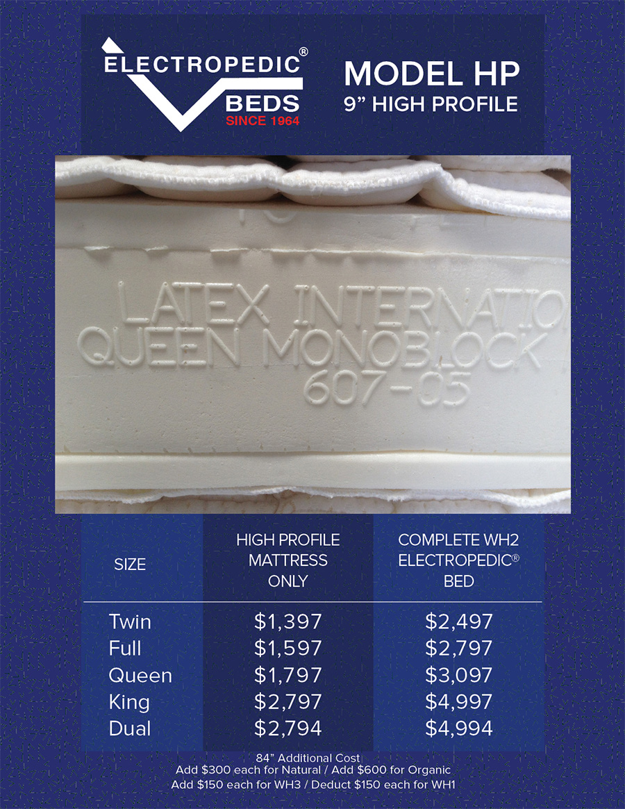 "High Profile 9"" Latex Mattress"