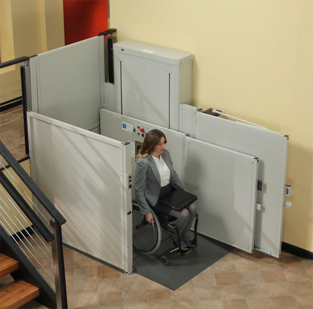 Burbank wheelchair elevator vpl vertical platform pl macs porchlift are harmar bruno macsliftgate ezaccess