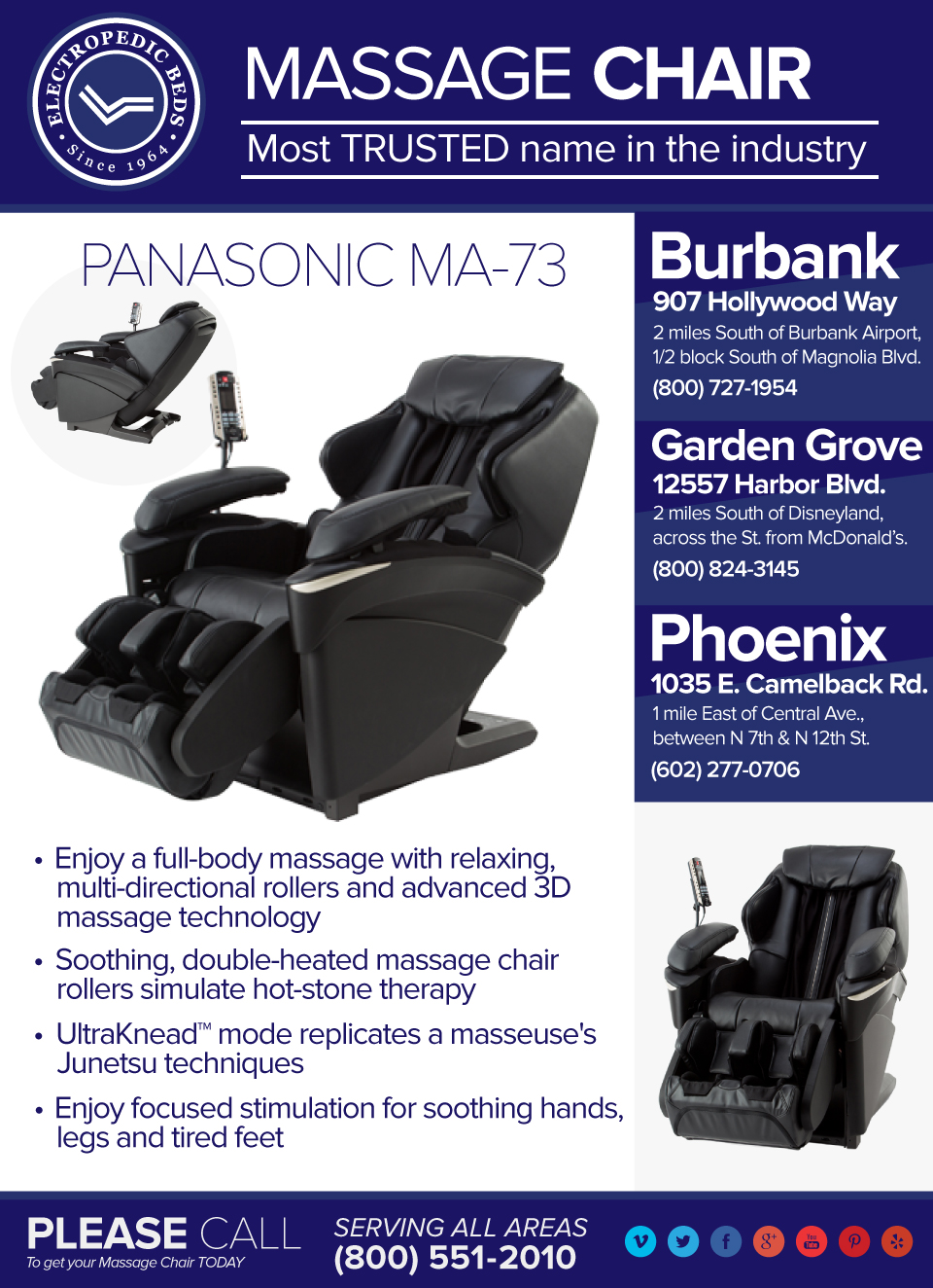 Panasonic MA73 massage chair