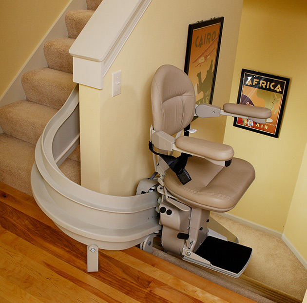 Burbank Curved Stair Lift custom bruno cre2110 are handicare freecurve 2000 stairchair