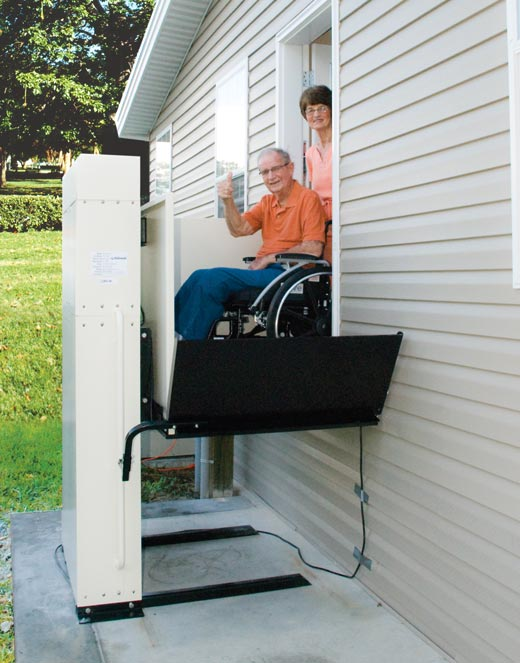 Los-Angeles  vpl vertical platform wheelchair porch lift