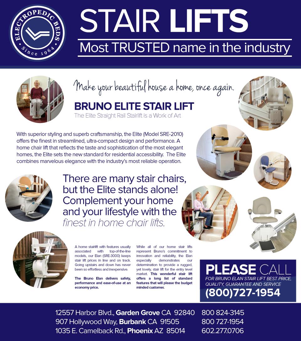 bruno straight rail stairlift home residential elderly stair ...