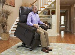 ANAHEIM discount seat lift chair leather recliner