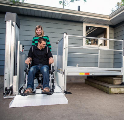 phoenix az wheelchair elevator vertical platform vpl are porch lifts for mobile home pl50 mac