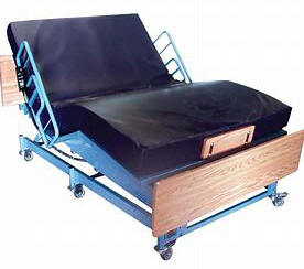 beriatric heavy duty large big wide Burbank electric adjustable hospital bed are power motorized frame foundation