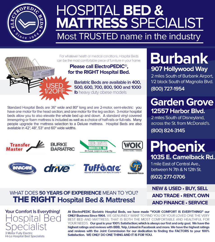 Phoenix AZ New & Used Hospital Bed Buy, Sell, Rental, Trade