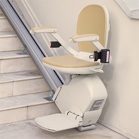 Kraus straight rail Electropedic Stair Lift Outdoor, Indoor and Curve Specialist