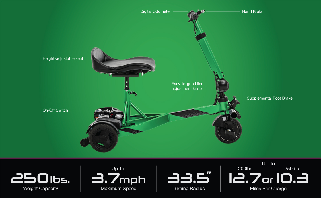 I ride lightweight compact scooter