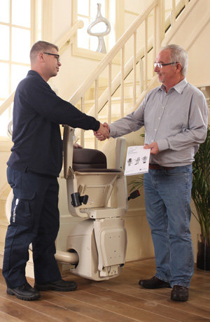 Harmar Helix curved stairlift City Havle Precision